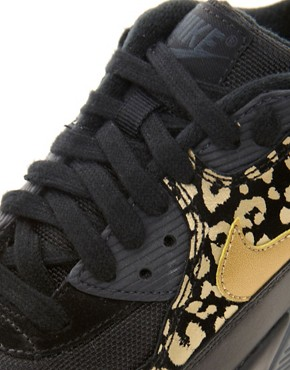 Image 3 ofNike Air Max 90 08 Gold Leopard Trainers