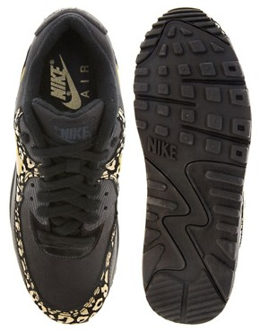 Image 4 ofNike Air Max 90 08 Gold Leopard Trainers