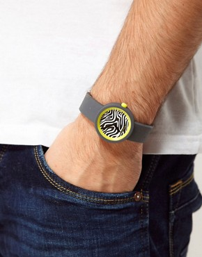 Image 2 ofO&#39;Clock Zebra Safari Watch