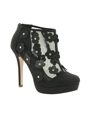 Image 1 of ASOS TAPDANCE Shoe Boots with Flowers