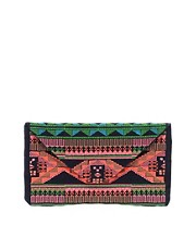 Maison Scotch Aztec Embroidered Clutch Bag