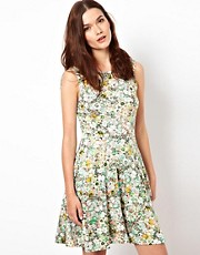 Warehouse Fluro Flower Dress