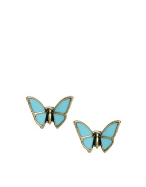Image 1 ofCath Kidston Butterfly Stud Earrings