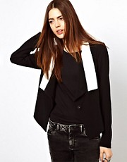 Just Female Blazer With Contrast Collar
