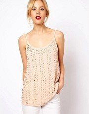 Mango Heavily Beaded Cami Top