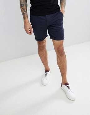 ASOS Slim Chino Shorts In Mid Length