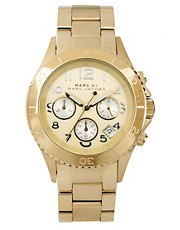 Marc by Marc Gold Chronograph with Silver Dial Detail Watch
