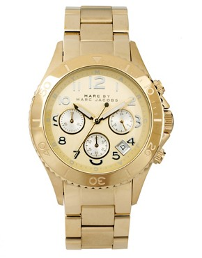 Image 1 ofMarc by Marc Gold Chronograph with Silver Dial Detail Watch