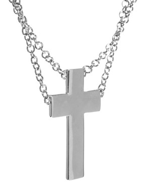 Image 4 ofASOS Solid Cross Charm Necklace