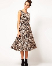 River Island Leopard Midi Dress