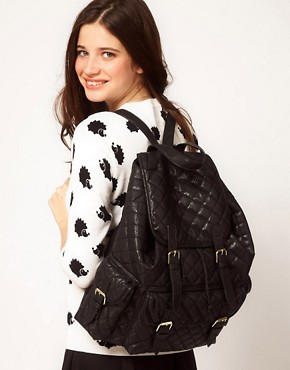 Image 3 ofASOS Quilted Backpack
