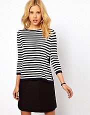 Mango Stripe Slouch Jumper