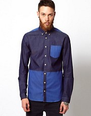 Libertine Libertine Shirt with Contrast Panel &amp; Pocket