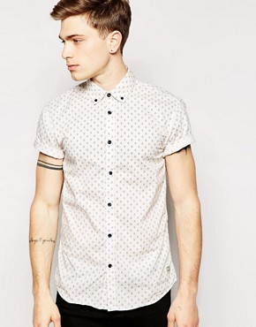 Jack & Jones Short Sleeve Shirt with All Over Print