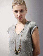 Sophie Hulme For ASOS Exclusive 24ct Gold Plated  I Love My Nan  Long Necklace