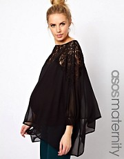 ASOS Maternity Top With Lace Trim And Cuff