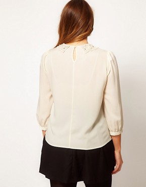 Image 2 ofASOS CURVE Blouse With Pearl Collar