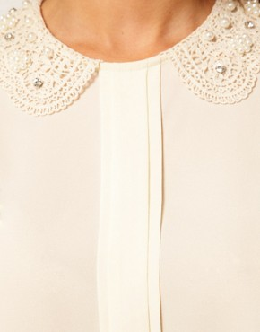 Image 3 ofASOS CURVE Blouse With Pearl Collar