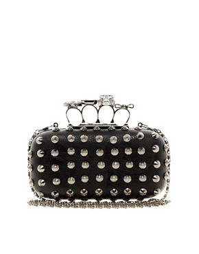 Image 1 ofALDO Hesser Skull Knuckle Ring Clutch