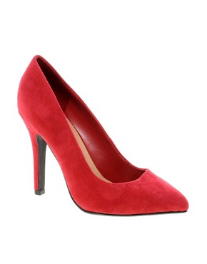 Image 1 of New Look Ride Classic Red Pointed Court Shoes