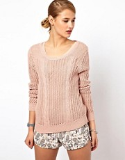 Selected Cotton Cable Knit Jumper