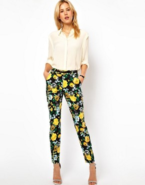 Image 1 ofASOS Trousers in Floral Print