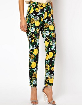 Image 4 ofASOS Trousers in Floral Print