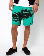 A Question Of Shorts with Leaf Print