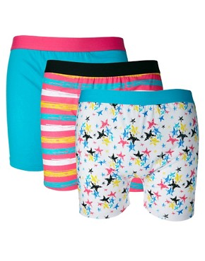 Image 1 ofRiver Island Star Three Pack Trunks