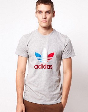 Image 1 ofAdidas Originals Trefoil Fade Logo T-Shirt