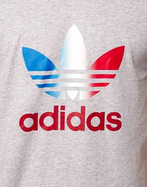 Image 3 ofAdidas Originals Trefoil Fade Logo T-Shirt
