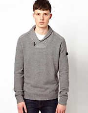 Ben Sherman Shawl Collar Knit