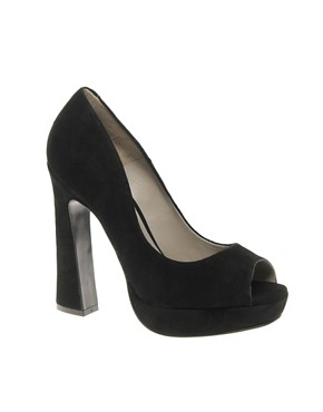 Image 1 ofKG Caggie Platform Peep Toe Court Shoes