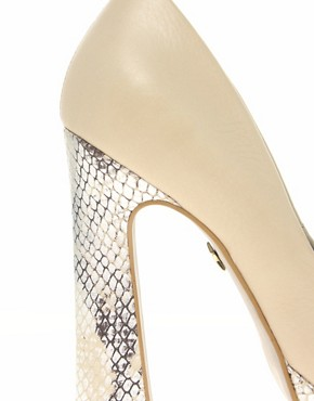 Image 2 ofKG Caggie Platform Peep Toe Court Shoes