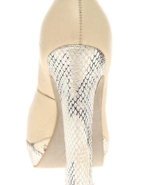 Image 3 ofKG Caggie Platform Peep Toe Court Shoes