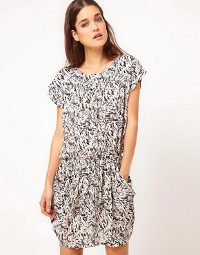 Image 1 ofSelected Mari Dress in Printed Viscose