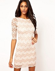 Lipsy Zig Zag Lace Dress