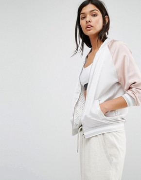 New Look Reversible Mesh Satin Bomber