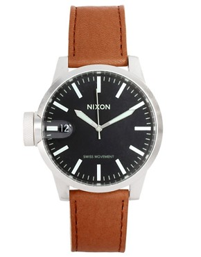 Image 1 ofNixon Chronicle Leather Watch