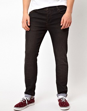 Image 1 ofASOS Skinny Jeans With Black Coating