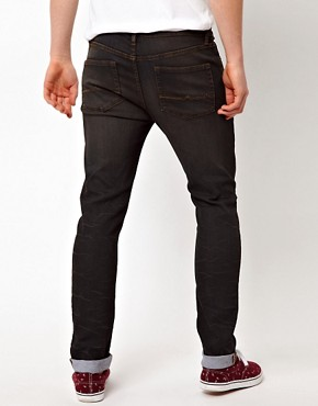 Image 2 ofASOS Skinny Jeans With Black Coating