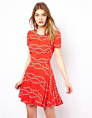 Oasis Dress In Spot Print