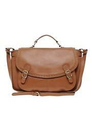 Ameko Leather Slouch Shoulder Bag