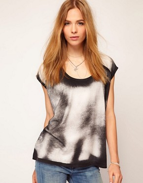 Image 1 ofSelected Tianna Bleach Print Tee