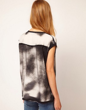 Image 2 ofSelected Tianna Bleach Print Tee