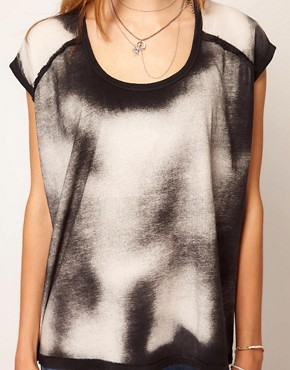 Image 3 ofSelected Tianna Bleach Print Tee