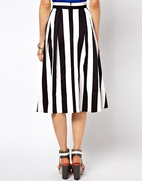 Image 2 ofASOS Midi Skirt In Bold Stripe