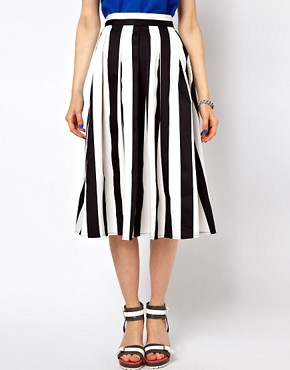 Image 4 ofASOS Midi Skirt In Bold Stripe