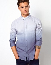 River Island Oxford Shirt in Dip Dye