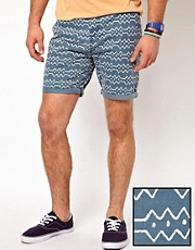 ASOS Chino Shorts With Aztec Print